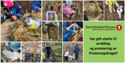 Bilder fra #naturoppdraget som har fått støtte av Sparebankstiftelsen Nøtterøy-Tønsberg